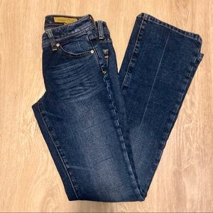 Seven7 Medium Dark Wash Classic Flare Jeans